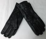 Женские перчатки кожа/кролик 68-2