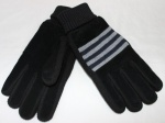 Мужские перчатки замша/трикотаж 9961