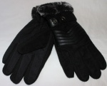 Мужские перчатки замша/трикотаж 997