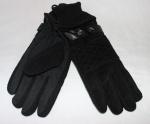 Мужские перчатки замша/трикотаж 996