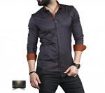 Мужские рубашки длинный рукав 35-01-663