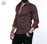 Мужские рубашки длинный рукав 35-01-665