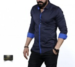 Мужские рубашки длинный рукав 35-02-648