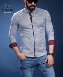 Мужские рубашки длинный рукав 01-40-581