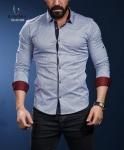 Мужские рубашки длинный рукав 01-40-586