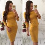 Модное женское платье М419
