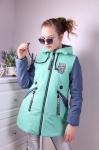 Детские демисезонные парковые куртки р. 128-152 66-398