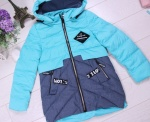 Детские демисезонные парковые куртки р. 128-152 66380-1