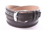 Мужской ремень комбинированный - кожаный низ
