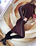 Женское теплое платье 508-2
