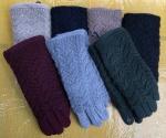 Женские сенсорные перчатки трикотаж/мех