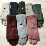 Женские сенсорные варежки-перчатки