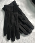 Мужские сенсорные перчатки замша/начес