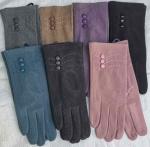 Женские сенсорные перчатки драп тонкий