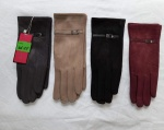 Женские перчатки замша/байка