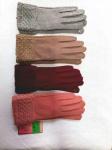 Женские сенсорные перчатки трикотаж/байка