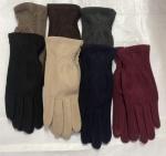 Женские сенсорные перчатки трикотаж/начес