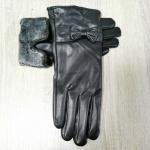 Женские перчатки кожзам/плюшевая махра