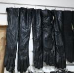 Женские перчатки кожа/плюш