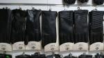 Женские перчатки кожа коза/плюш А222