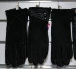 Женские перчатки кожа замша/махра А32