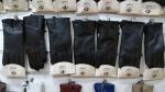 Женские перчатки кожа/плюш А161