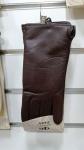 Женские перчатки кожа/махра А101-4