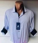 Мужские рубашки длинный рукав - батал Б1686-3