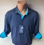 Мужские рубашки длинный рукав - батал Б1686-4