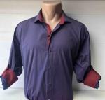 Мужские рубашки длинный рукав - батал Б1686-5