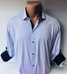 Мужские рубашки длинный рукав - батал Б1786-1