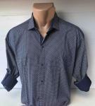 Мужские рубашки длинный рукав - батал Б3206-3