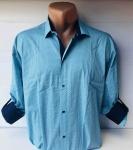 Мужские рубашки длинный рукав - батал Б3206-4