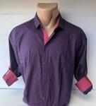 Мужские рубашки длинный рукав - батал Б3206-7