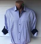 Мужские рубашки длинный рукав - батал Б3206-1