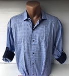 Мужские рубашки длинный рукав - батал Б3291