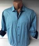 Мужские рубашки длинный рукав - батал Б3291-4