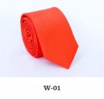 Детский однотонный галстук DW-01