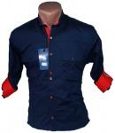 Мужские рубашки длинный рукав 0937-3