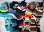 Детский комплект-шапка,шарф и рукавички
