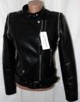 Куртки из кожзама W017