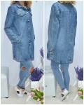 Женские джинсовые кардиганы 342-3