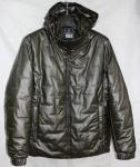 Мужская куртка кожзам 20102-1