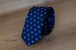 Узкий галстук жаккард 0820-1