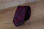 Узкий галстук жаккард 0830-4