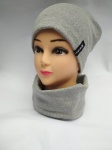 Женский комплект -шапка и шарф