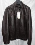 Мужская куртка кожзам Батал 168-1А-2