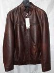Мужская куртка кожзам Батал 168-2А-2