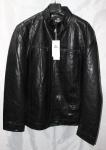 Мужская куртка кожзам Батал 1813-1