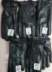 Мужские перчатки кожа/козья 35